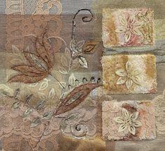vintage lace collage