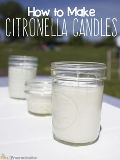 to Make Citronella Candles Bugs driving you crazy? Make these easy DIY citronella candles to keep them away!Bugs driving you crazy? Make these easy DIY citronella candles to keep them away! Homemade Candles, Diy Candles, Making Candles, Scented Candles, Candle Making Business, Craft Business, Citronella Candles, Aromatherapy Candles, Candlemaking