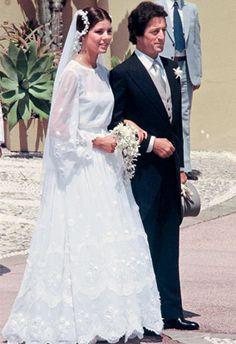 Princess Caroline and her 1st husband Philippe Junot