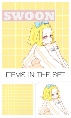 """""""Some birthday cards... c:"""" by akihabara ❤ liked on Polyvore featuring art, yellow and anime"""