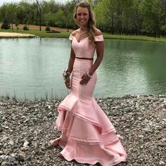 Buy 2018 mermaid dresses off the shoulder satin two pieces On Black Friday Prom, Provide High Quality Product, Satisfaction Prom Dresses Jovani, Mermaid Prom Dresses, Homecoming Dresses, Cheap Dresses, Girls Dresses, Flower Girl Dresses, Prom Dresses Two Piece, Formal Dresses, Dress Long