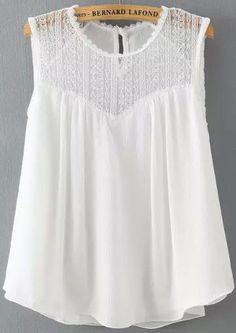 To find out about the White Sleeveless Lace Loose Tank Top at SHEIN, part of our latest Tank Tops & Camis ready to shop online today! Pretty Outfits, Cute Outfits, Loose Tank Tops, Lace Tank, Lace Camisole, Zara Tops, Mode Style, Look Fashion, Spring Summer Fashion