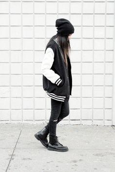 Dress Like Jess: Varsity Jacket  www.dress-like-jess.blogspot.com/2014/03/varsity-jacket.html