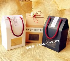 10*8*11cm Kraft Packing Box 380ML Honey/Jam/Tea Box Favlor Gift Box With PVC Window #Affiliate