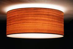 Deckenleuchte Kirsche Echtholzfurnier, Durchmesser 40, 50, 60 cm, 3xE27