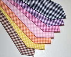 Necktie in Gingham LOTS of COLORS Available Me and by MeandMatilda, $22.95