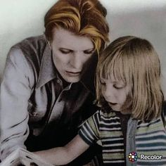 "David Bowie & son Zowie (Duncan Jones) on the set of ""The Man Who Fell to Earth"" in New Mexico, summer of 1975"