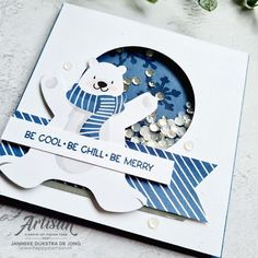 Penguin Place – Be cool . Be chill . Be merry Merry Happy, Winter Cards, Stampin Up, Penguins, Chill, Coasters, Holiday, Design, Mini