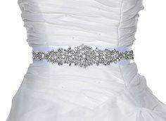 Amazon.com: QueenDream Rhinestone Applique for DIY Wedding Sash Width: 30.00 cm * 6.00 cm