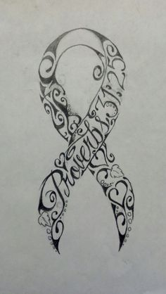 Breast Cancer Ribbon proverbs 31:25(She is clothed with strength and dignity,      and she laughs without fear of the future.)