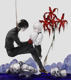 """Do you don´t like me anymore ?"" ""It´s not that I don´t like you , it´s just that I don´t remember you."" *little Kaneki-kun starts to cry* ""I´m sorry. "" (*----*) :,( - Kaneki to Haise - Tokyo Ghoul re:"