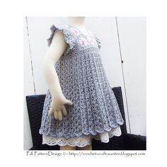 Grey Granny Square Crochet Dress Pattern -Toddler Girl - Instant Download by PdfPatternDesign on Etsy https://www.etsy.com/listing/101624446/grey-granny-square-crochet-dress-pattern