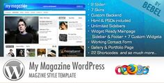 MyMagazine theme for WP is a great to share all sorts of media whether articles, photos, videos, or of course music files.