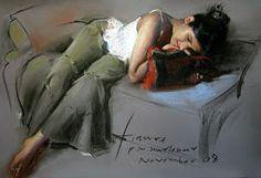 Pramod Kurlekar: Soft Pastel Paintings Soft Pastel Art, Pastel Drawing, Painting & Drawing, Soft Pastels, Indian Art Paintings, Pastel Paintings, Pastel Portraits, Beautiful Drawings, Life Drawing