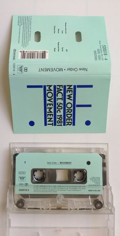 New Order - Movement Cassette ロンドンで90年代初頭に購入。Peter Saville