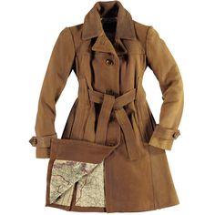 Women's Amelia Trench Leather Coat