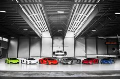Six Lamborghini Aventadors. One Epic Photoshoot. #Hexventador - Carhoots