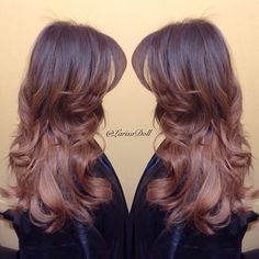 beige brown melted into a rose brown ombré. In love