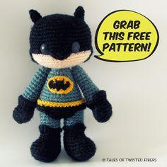 Batman, free amigurumi crochet pattern | Tales of Twisted Fibers