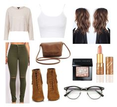 """""""Relaxed Casual"""" by annekev on Polyvore featuring Yves Saint Laurent, Topshop, tarte and Bobbi Brown Cosmetics"""