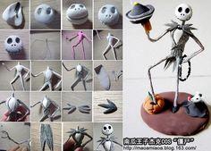 Halloween skeleton cake topper tutorial.