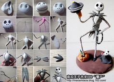 Halloween skeleton cake topper tutorial.