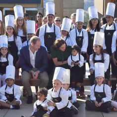 Kate Middleton Photos Photos - Prince William, Duke of Cambridge and Catherine, Duchess of Cambridge pose with young chefs during a Taste of British Columbia community event at Mission Hill Winery on September 27, 2016 in Kelowna, Canada.