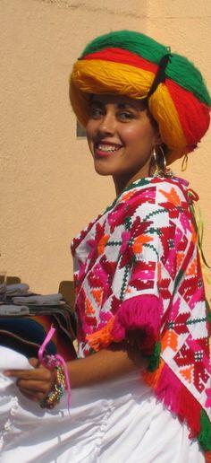 Tenek costume - from the Huasteca area.  MEXICAN FOLK DANCER