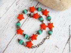 """""""Морской бриз"""" браслет - браслет на ногу,морская тема,морской стиль,морская звезда"""