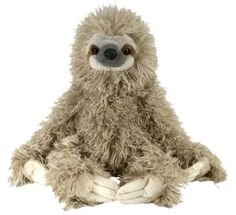 "Amazon.com: Wild Republic Cuddlekin Three Toed Sloth 12"" Plush: Toys & Games"