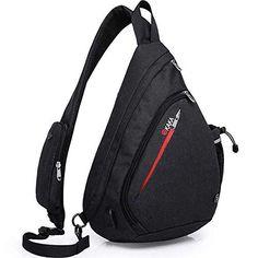 Enjoy exclusive for Sling Bag,Crossbody Backpack Rope Shoulder Bag Waterproof RFID Canvas Travel Multipurpose Daypack With USB Charging Port Men Women online - Protophits Shoulder Backpack, Men's Backpack, Small Backpack, Oakley Backpack, Shoulder Sling, Backpack Pattern, Shoulder Bags, Waterproof Backpack, Travel Bags