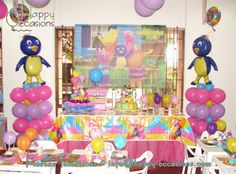 Decoración Fiesta Backyardigans www.happy-occasions.com