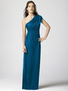 Dessy Collection Style 2858 in Ocean Blue