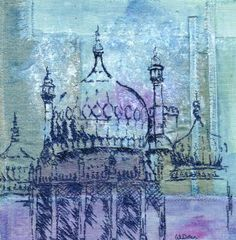 Architecture by Wendy Dolan. Would love to do a course with her. Indian Architecture, Textiles, A Level Art, Gcse Art, Environmental Art, Textile Artists, Art Sketchbook, Fabric Painting, Indian Art