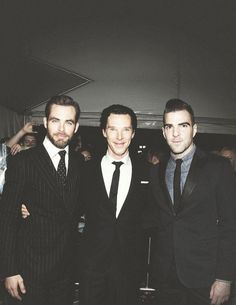 Chris Pine, Benedict Cumberbatch, Zachary Quinto... They need to be rubbing my feet ... NOW!!!!!