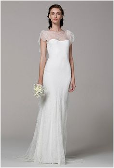 wedding dresses 2013 trend - lace and tulle combination