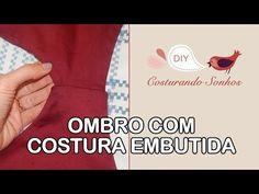 Ombro com costura embutida - YouTube