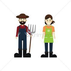 Farmer and gardener stock vector , #sponsored, #gardener, #Farmer, #vector, #stock #affiliate