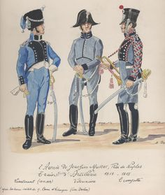 Tenente, veterinario e tromba del treno di artiglieria del regno di Napoli di Murat