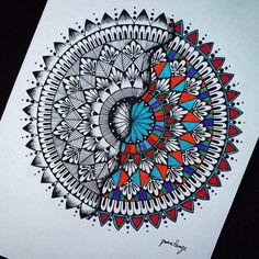 Doodle Art Designs, Doodle Ideas, Doodle Patterns, Art Patterns, Pattern Art, Mandala Art Therapy, Mandala Art Lesson, Mandala Drawing, Mandala Canvas