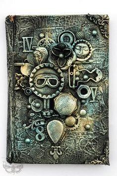 Art Recipe: Industrial Book Cover   Finnabair   Bloglovin'