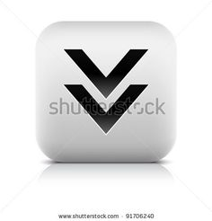 All web button this series internet icon http://www.shutterstock.com/sets/101711-stone-white-button.html?rid=498844 — Stone web 2.0 button download symbol arrow sign. White rounded square shape with black shadow and gray reflection on white background. This vector illustration created and saved in 8 eps — #Royalty #free #stock #vector #illustration for $0.28 per download