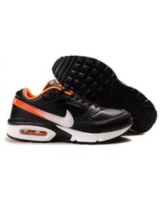 sports shoes 78b11 fca8d Nike Mens Air Max BW Trainers In Black White Orange Air Max Classic, Cheap  Nike