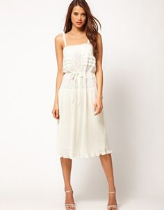 Love love love this slip dress with lace
