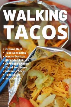 walking tacos for a crowd bags / walking tacos for a crowd ; walking tacos for a crowd parties food ; walking tacos for a crowd slow cooker ; walking tacos for a crowd bags Ground Beef Taco Seasoning, Ground Beef Tacos, Beef Recipes, Mexican Food Recipes, Recipies, Taco In A Bag, Easy Party Food, Parties Food, Supper Recipes