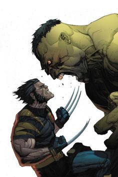 Hulk vs. Wolverine... I want them to do a crossover so badly!!!!!! Avengers 2!