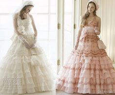 shabby chic wedding dress....kinda gone with the windish, but its pink and modern!! It's perfect!!