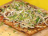 Rachel Rays Thai Chicken Pizza.This is my all-time favorite recipe. I love it more than cream cheese wontons. Which is saying a lot.
