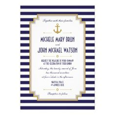 Custom Stylish Nautical Wedding Invitation created by pinkpinetree. This invitation design is available on many paper types and is completely custom printed. Nautical Wedding Invitations, Black And White Wedding Invitations, Rehearsal Dinner Invitations, Wedding Invitation Design, Rehearsal Dinners, Bridal Shower Invitations, Wedding Rehearsal, Wedding Rsvp, Wedding Stationary