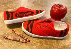 Painted Canvas Shoes, Custom Painted Shoes, Hand Painted Shoes, Custom Shoes, Teacher Shoes, Teacher Outfits, School Outfits, Teacher Wardrobe, Teacher Clothes